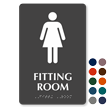 Women Fitting Room TactileTouch™ Sign with Braille