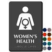 Women's Health Braille Sign, Female Health Care Symbol