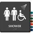 Shower Braille Women, Men, ISA Symbols Sign