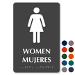 Bilingual Tactile Touch Braille Sign for Women