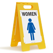 Women W/Graphic Fold-Ups® Floor Sign