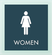 Women w/F Symbol Sign