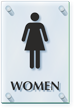 Women Restroom ClearBoss Sign