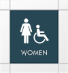 Female & Handicap Accessible Symbol