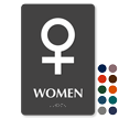 Venus Women Braille Restroom Sign