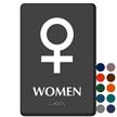 Venus Women Braille Restroom Sign