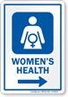 Womens Health Right Arrow Hospital Sign