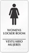 Bilingual Women's Locker Room Braille Sign