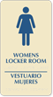 Bilingual Women's Locker Room TactileTouch Braille Sign