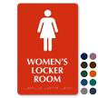 Womens Locker Room Graphic Sign