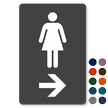 Women Bathroom TactileTouch Directional Sign