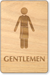 Gentlemen In Towel Wooden Restroom Sign