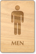 Men Wooden Restroom Sign