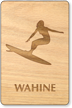 Wahine Wooden Restroom Sign