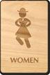Dancing Women Wooden Restroom Sign