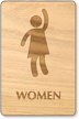 Party Women Wooden Restroom Sign