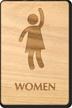 Party Women Wooden Restroom Sign