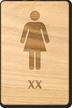 XX Woman Wooden Restroom Sign