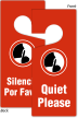 Bilingual Quiet Please Silencio Por Favor Hang Tag