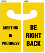 Be Right Back 2-Sided Door Hanger