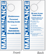2-Sided Bilingual Maintenance Personnel Working Inside Door Hanger