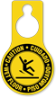 Caution Wet Floor Bilingual Door Hang Tag