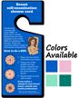 Breast Self-Examination Shower Card Hang Tag