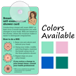 Breast Cancer Self Exam Suction Cup Tag