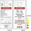 Custom Bilingual Maintenance Door Hanger, 2-Sided