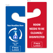 Room Disinfected / Needs Cleaning Hang Tag