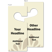 Custom Headline Door Hang Tag