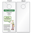 Make Your Own Pest Service Door Hanger
