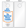 Design Your Own Renew Your Lease Door Hanger
