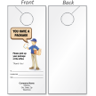 Customizable You Have A Package Door Hanger