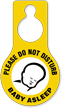 Do Not Disturb Baby Asleep Hang Tag