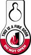 Do Not Open Fire Door Hang Tag