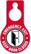 Emergency Exit Keep Door Closed Hang Tag