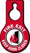 Fire Exit Keep Door Closed Hang Tag