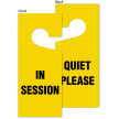 In Session Quiet Please Door Hang Tag