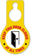 Keep This Door Closed Hang Tag