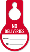 No Deliveries From To Door Hang Tag