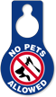 No Pets Allowed Door Hang Tag