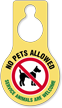 No Pets Allowed Service Animals Hang Tag