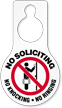 No Soliciting Knocking Ringing Door Hang Tag
