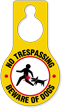 No Trespassing Beware Of Dogs Hang Tag