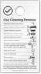 Our Cleaning Promise Car Cleaning Checklist Hang Tag