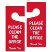 Please Clean The Office Thank You Double Sided Door Hanger