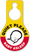 Quiet Please Baby Asleep Door Hang Tag