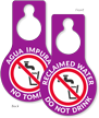 Reclaimed Water Do Not Drink Door Hang Tag