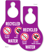 Recycled Water Do Not Drink Door Hang Tag